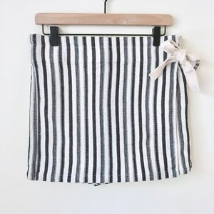 NWT Urban Outfitters Stripe Wrap Skort